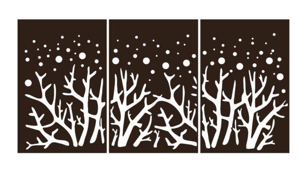 Decoratiune perete TREES AT NIGHT