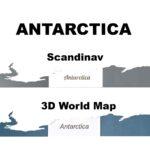 Harta lumii 3D Antarctica
