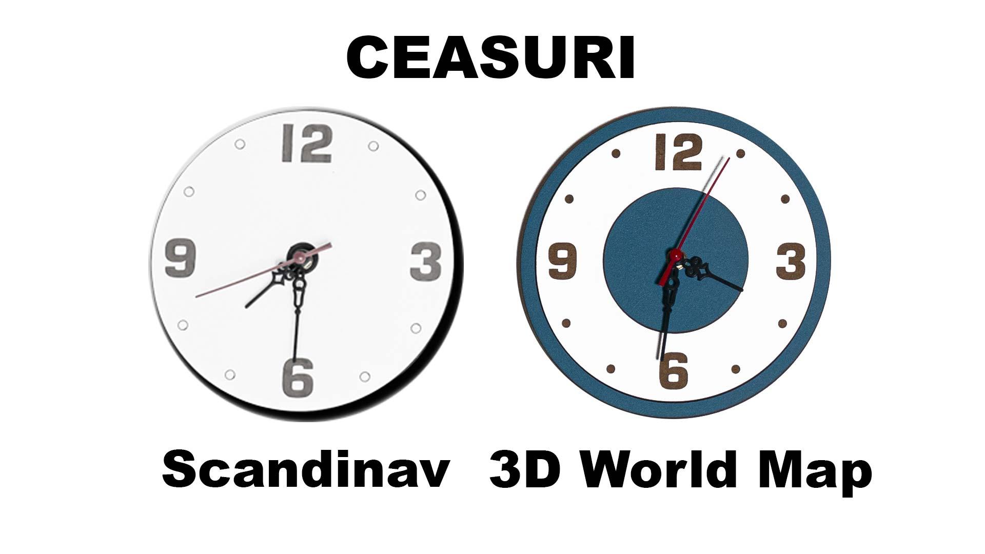 Ceas Harta lumii 3D