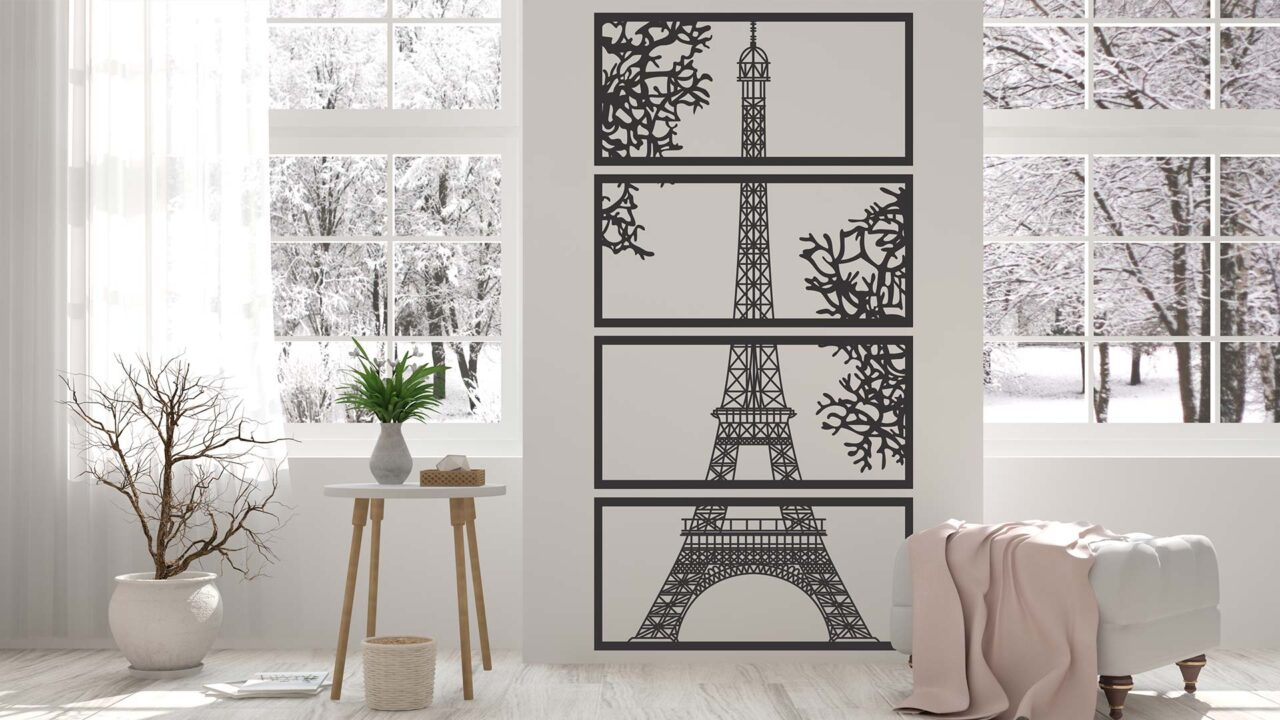 Decoratiune perete Turnul Eiffel