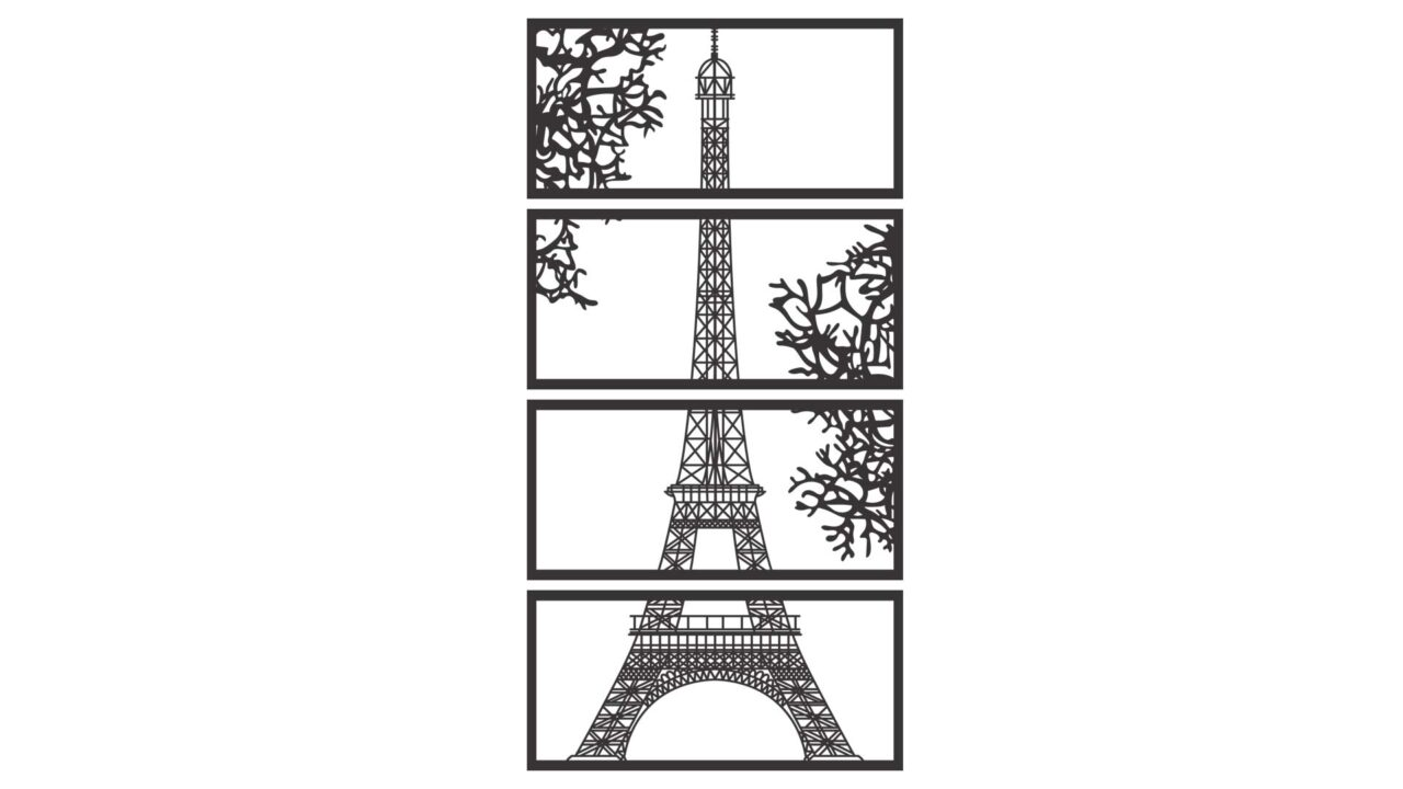 Decoratiune perete Turnul Eiffel produs
